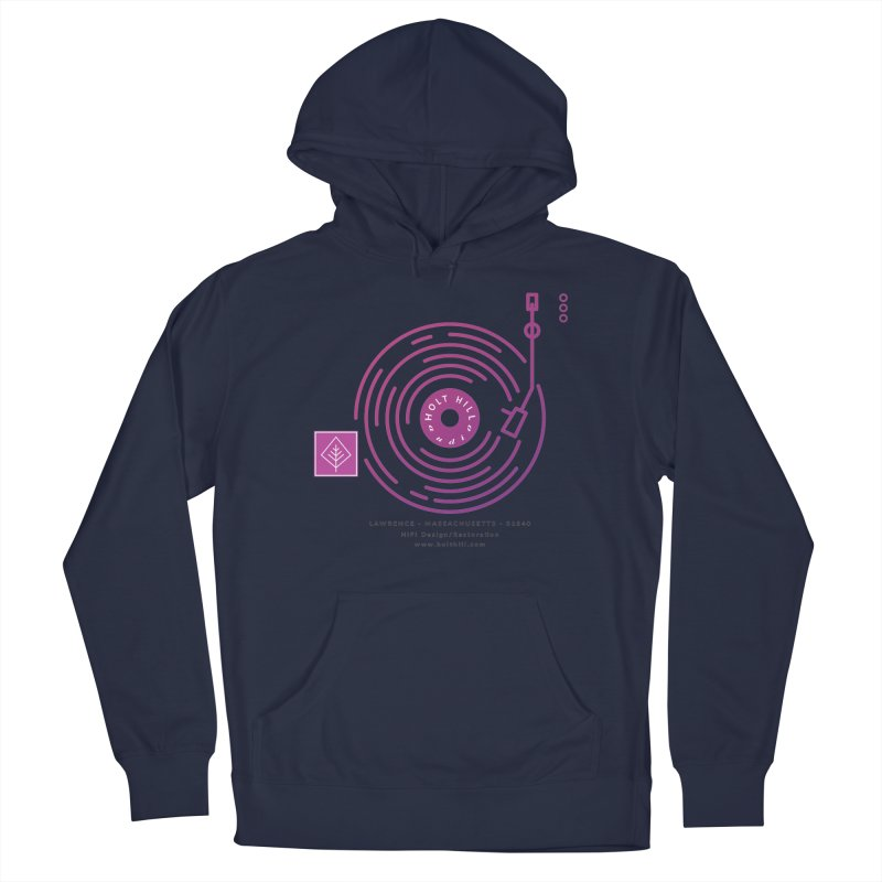 HHA Record Logo Dark Men's Pullover Hoody by Holt Hill Audio, LLC - Elevating Your Sound