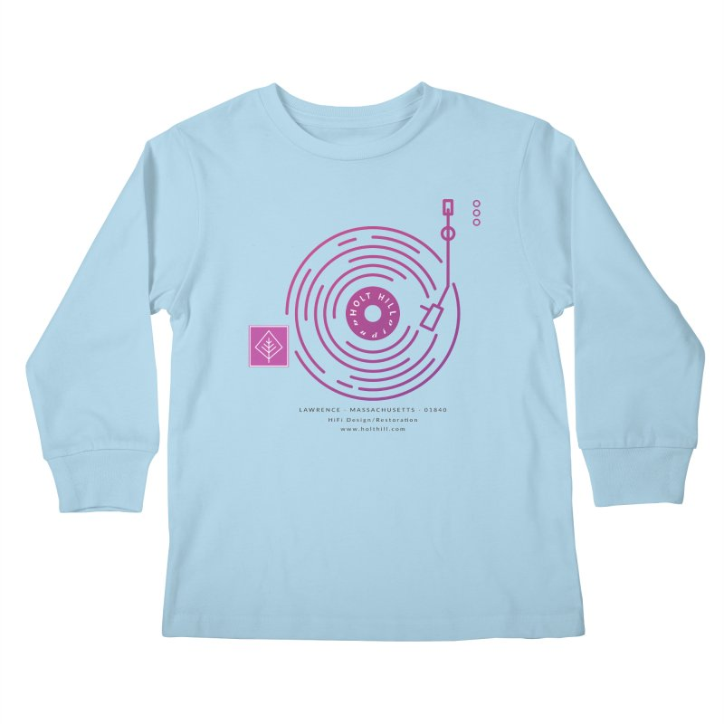 HHA Record Logo Dark Kids Longsleeve T-Shirt by Holt Hill Audio, LLC - Elevating Your Sound