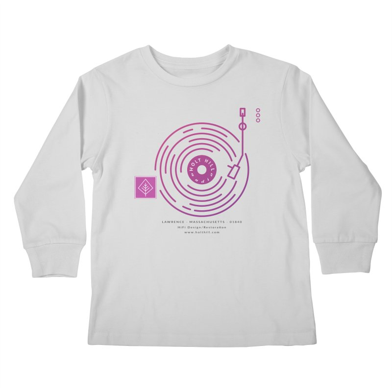 HHA Record Logo Dark Kids Longsleeve T-Shirt by Holt Hill Audio, LLC - Elevating Your Sound