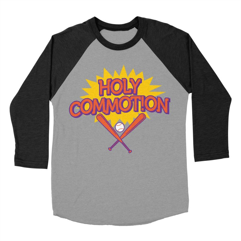 Holy Commotion - Softball Team Shirts Men's Baseball Triblend Longsleeve T-Shirt by Holy Communion's Artist Shop