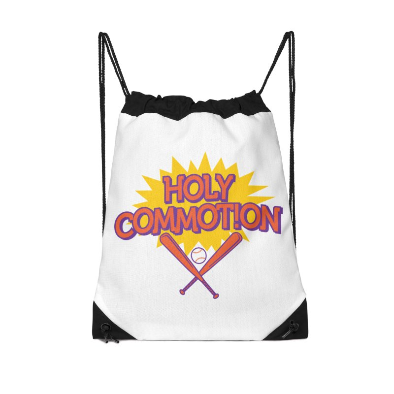 Holy Commotion - Softball Team Shirts Accessories Drawstring Bag Bag by Holy Communion's Artist Shop
