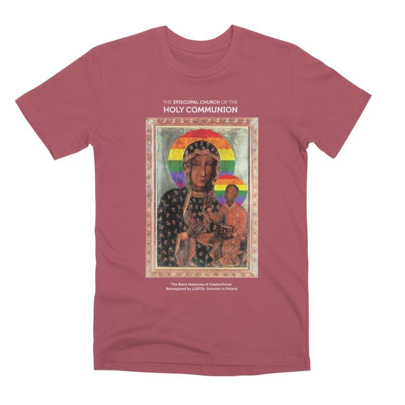 The Black Madonna of Częstochowa Men's T-Shirt by Holy Communion's Artist Shop