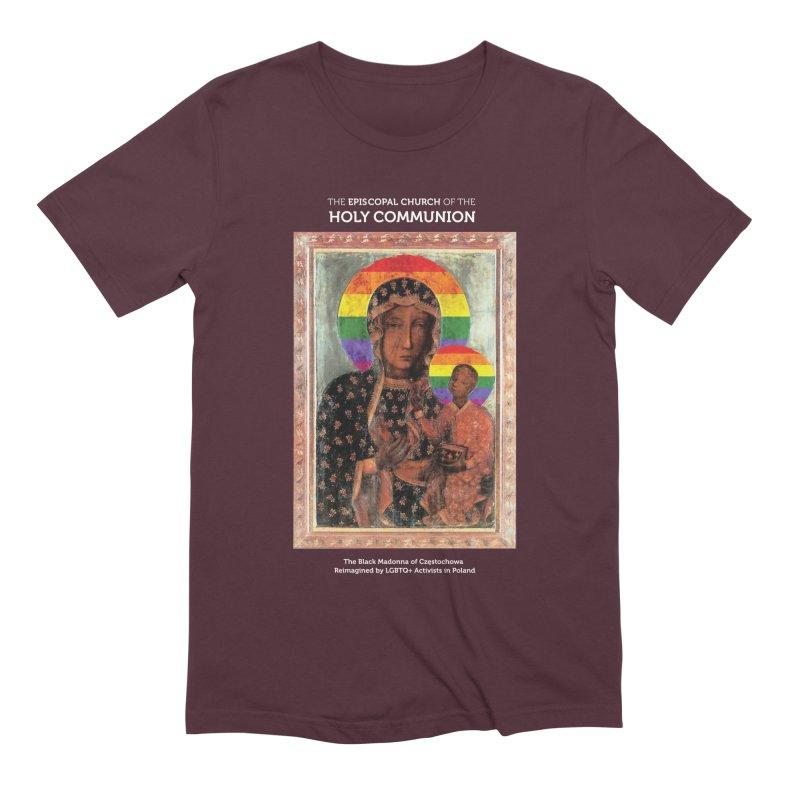 The Black Madonna of Częstochowa Men's Extra Soft T-Shirt by Holy Communion's Artist Shop