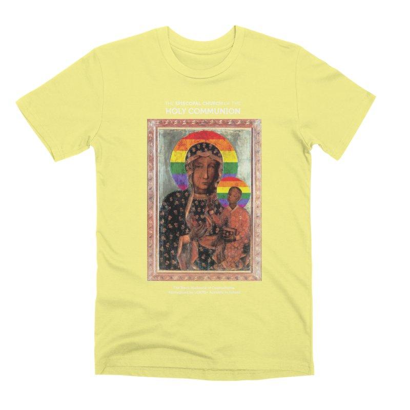The Black Madonna of Częstochowa Men's Premium T-Shirt by Holy Communion's Artist Shop
