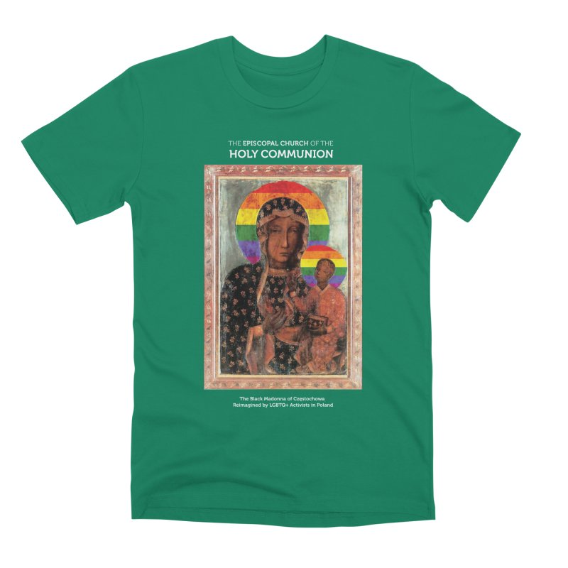 The Black Madonna of Częstochowa Men's T-Shirt by Holy Communion's Artist Shop