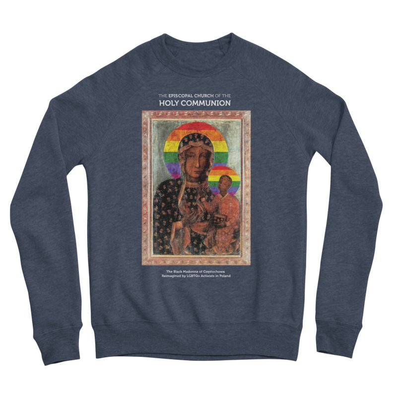 The Black Madonna of Częstochowa Men's Sponge Fleece Sweatshirt by Holy Communion's Artist Shop