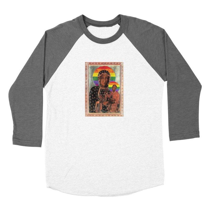 The Black Madonna of Częstochowa Men's Baseball Triblend Longsleeve T-Shirt by Holy Communion's Artist Shop
