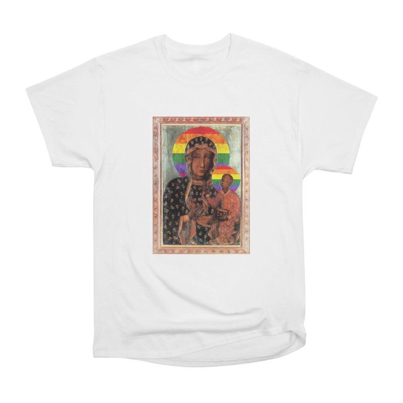 The Black Madonna of Częstochowa Men's Heavyweight T-Shirt by Holy Communion's Artist Shop