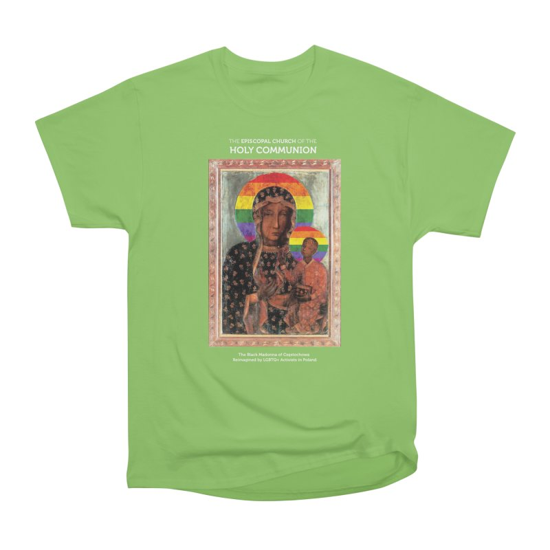 The Black Madonna of Częstochowa Women's Heavyweight Unisex T-Shirt by Holy Communion's Artist Shop