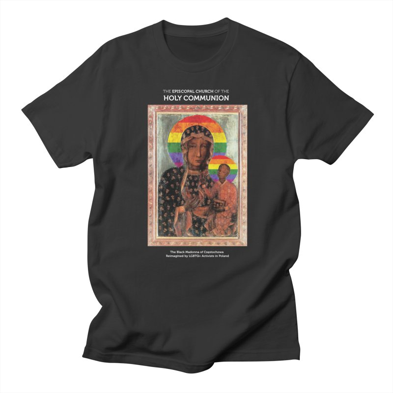 The Black Madonna of Częstochowa Men's Regular T-Shirt by Holy Communion's Artist Shop