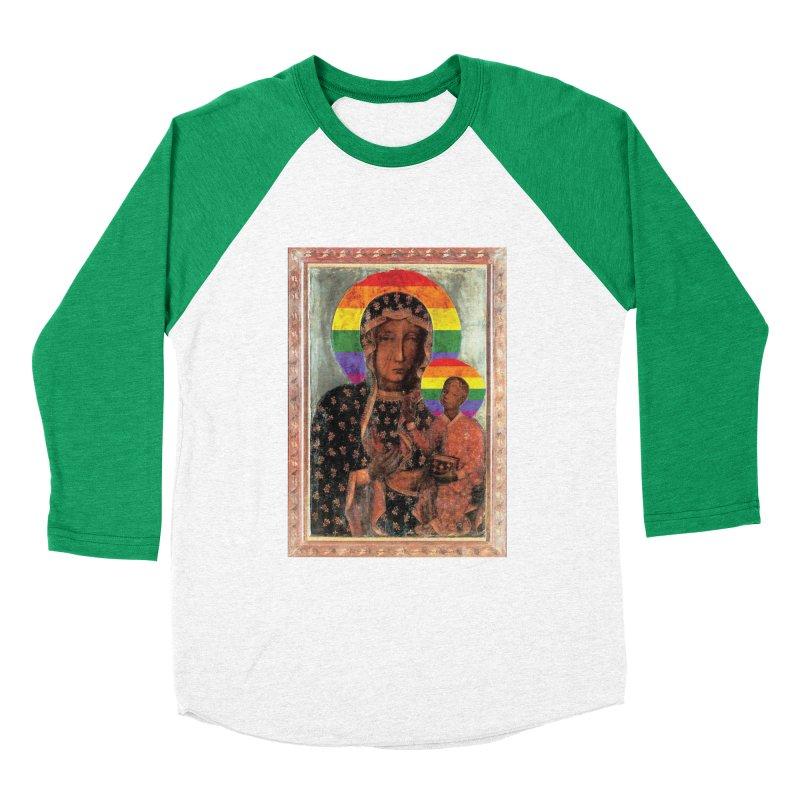 The Black Madonna of Częstochowa Women's Baseball Triblend Longsleeve T-Shirt by Holy Communion's Artist Shop