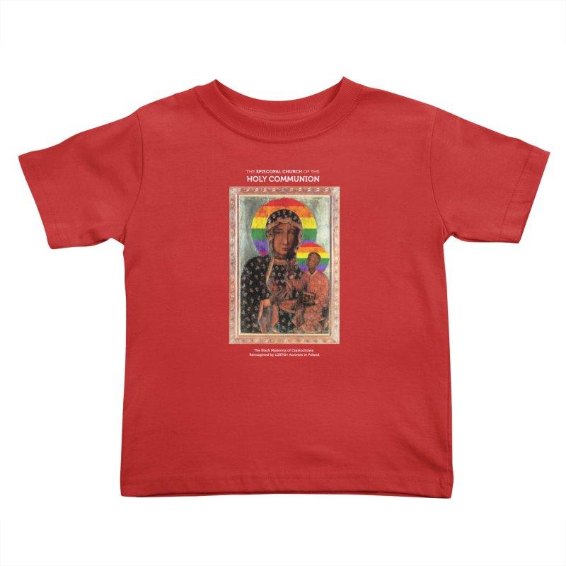 The Black Madonna of Częstochowa Kids Toddler T-Shirt by Holy Communion's Artist Shop