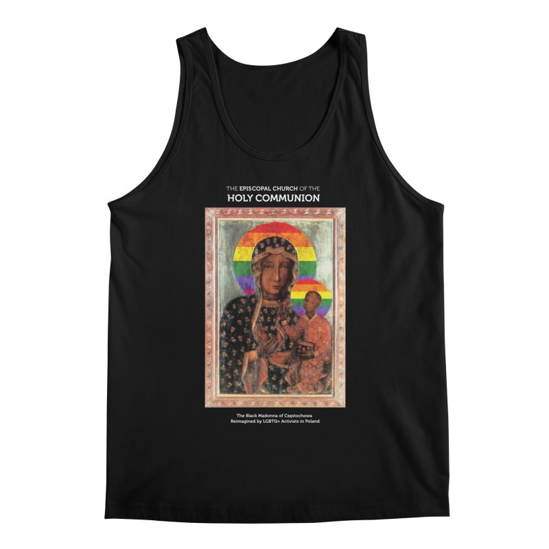 The Black Madonna of Częstochowa Men's Regular Tank by Holy Communion's Artist Shop