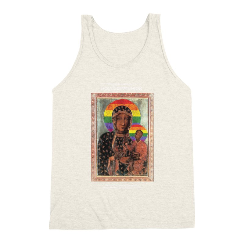 The Black Madonna of Częstochowa Men's Triblend Tank by Holy Communion's Artist Shop