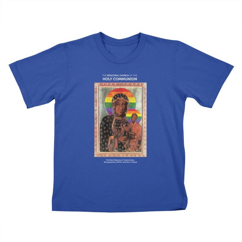 The Black Madonna of Częstochowa Kids T-Shirt by Holy Communion's Artist Shop