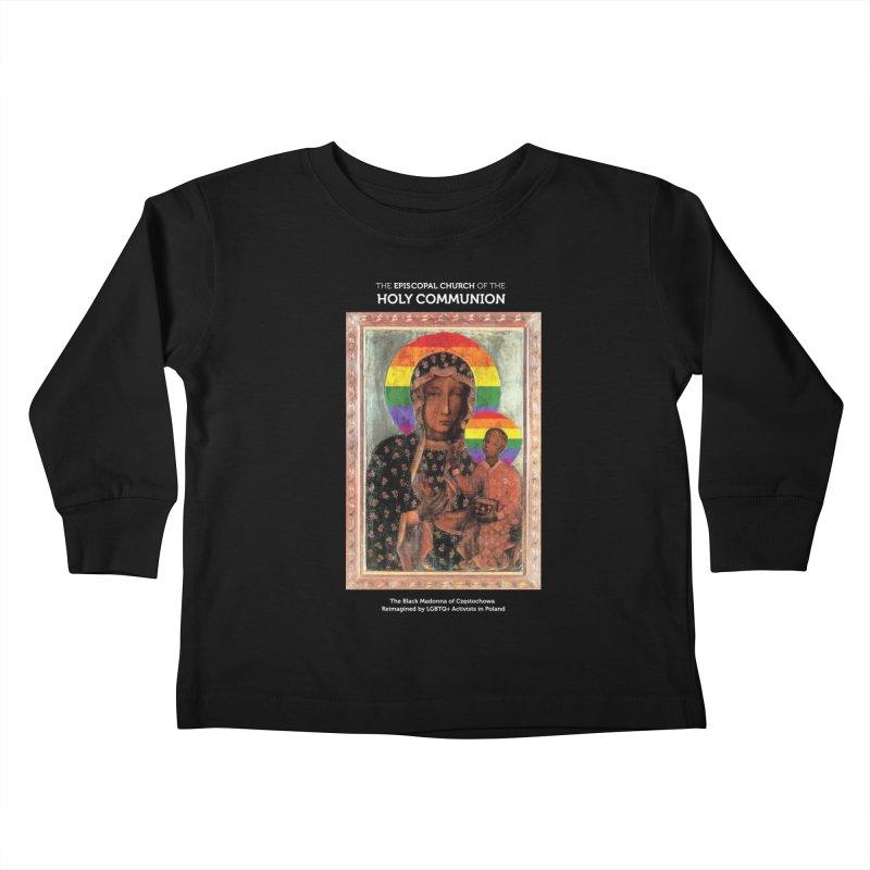 The Black Madonna of Częstochowa Kids Toddler Longsleeve T-Shirt by Holy Communion's Artist Shop
