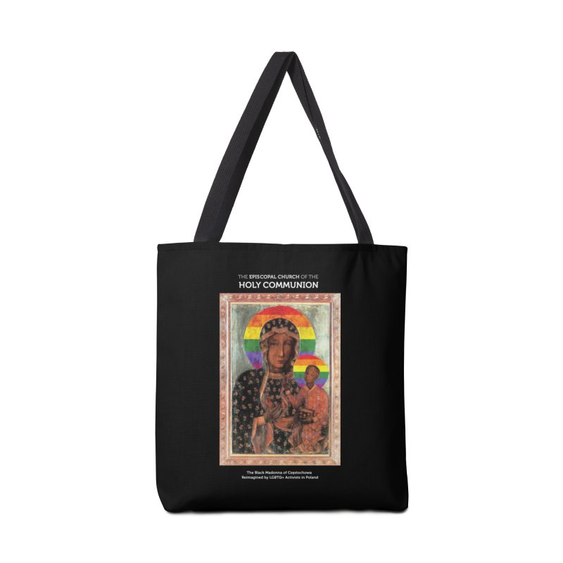 The Black Madonna of Częstochowa Accessories Tote Bag Bag by Holy Communion's Artist Shop