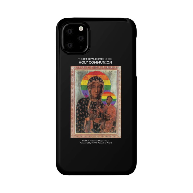 The Black Madonna of Częstochowa Accessories Phone Case by Holy Communion's Artist Shop