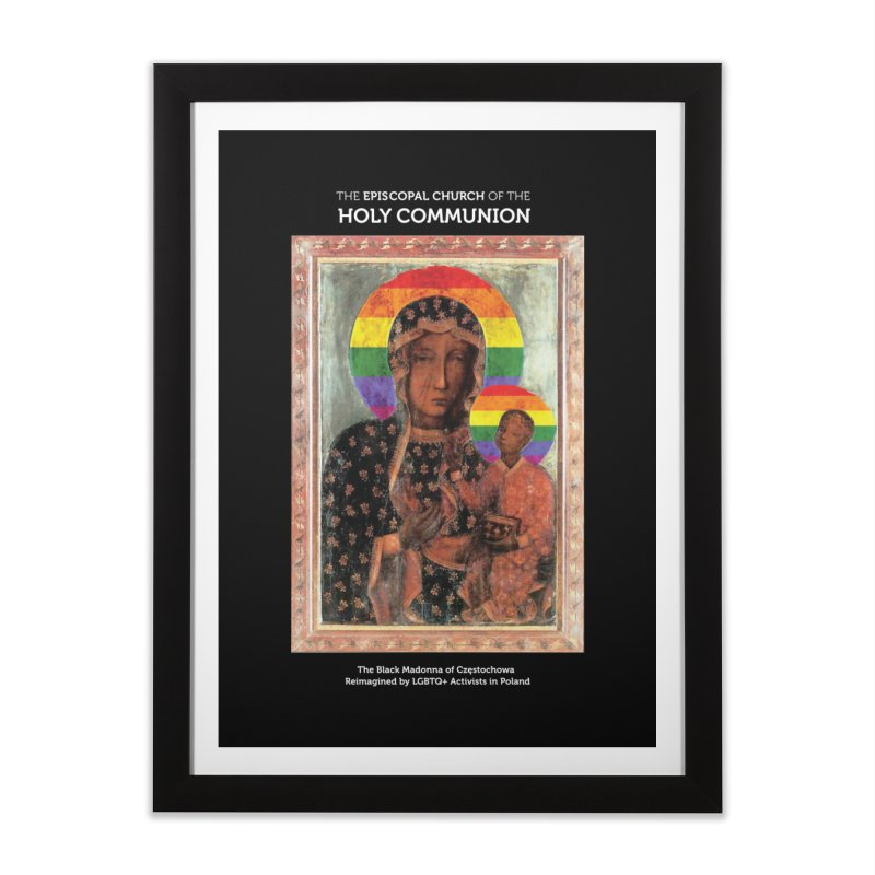 The Black Madonna of Częstochowa Home Framed Fine Art Print by Holy Communion's Artist Shop