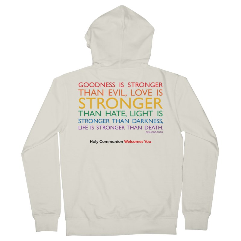 Tutu Quote for Light Colors Men's French Terry Zip-Up Hoody by Holy Communion's Artist Shop