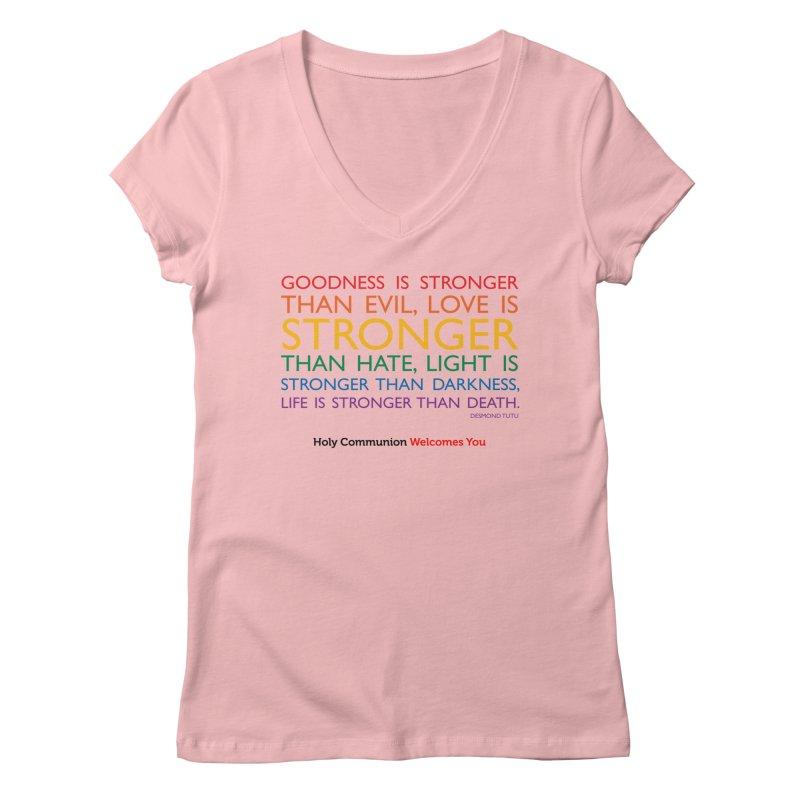 Tutu Quote for Light Colors Women's Regular V-Neck by Holy Communion's Artist Shop