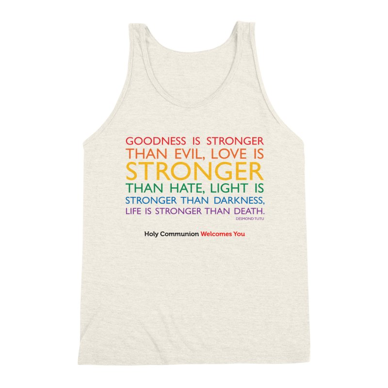 Tutu Quote for Light Colors Men's Triblend Tank by Holy Communion's Artist Shop