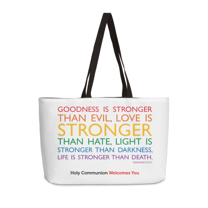 Tutu Quote for Light Colors Accessories Weekender Bag Bag by Holy Communion's Artist Shop