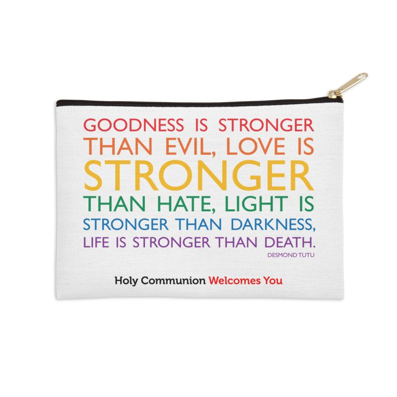 Tutu Quote for Light Colors Accessories Zip Pouch by Holy Communion's Artist Shop