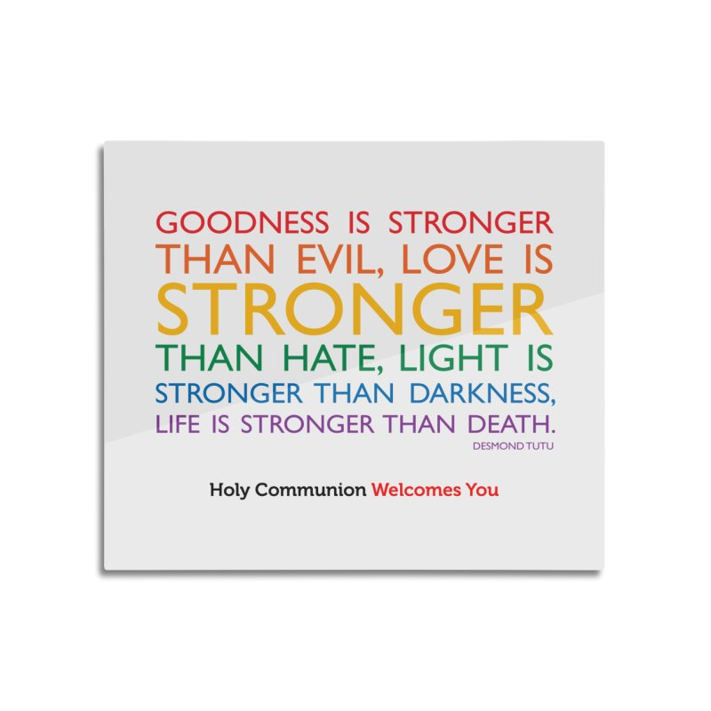 Tutu Quote for Light Colors Home Mounted Aluminum Print by Holy Communion's Artist Shop