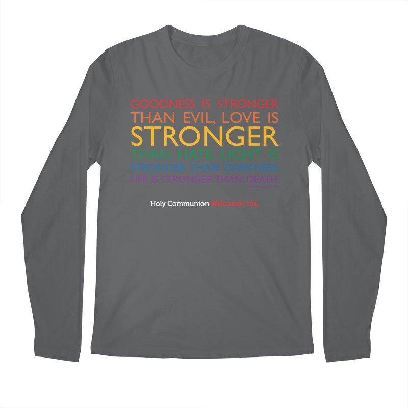 Tutu Quote for Dark Color Backgrounds Men's Regular Longsleeve T-Shirt by Holy Communion's Artist Shop