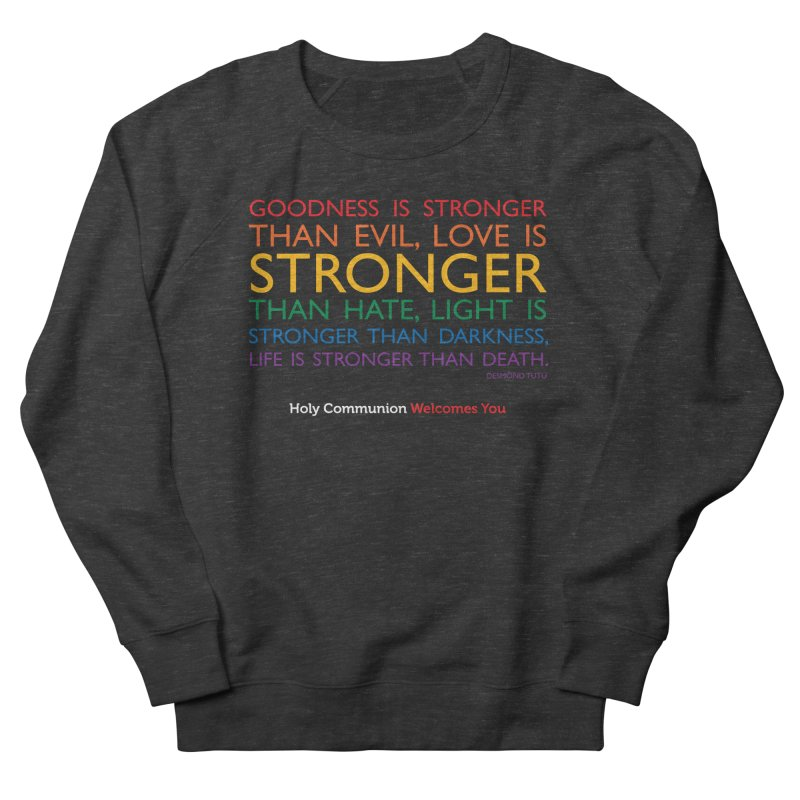 Tutu Quote for Dark Color Backgrounds Women's French Terry Sweatshirt by Holy Communion's Artist Shop