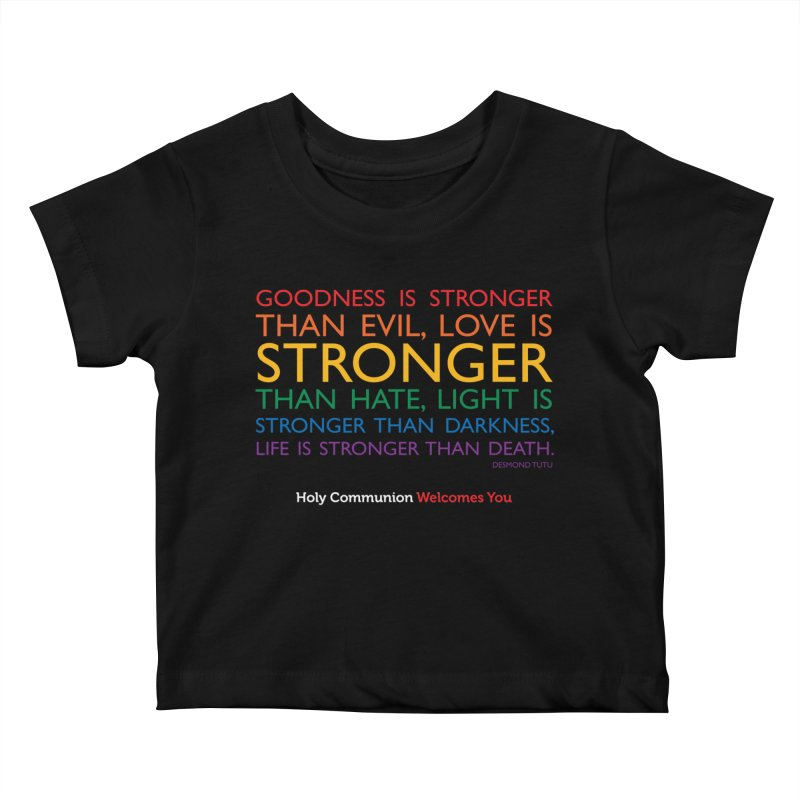 Tutu Quote for Dark Color Backgrounds Kids Baby T-Shirt by Holy Communion's Artist Shop