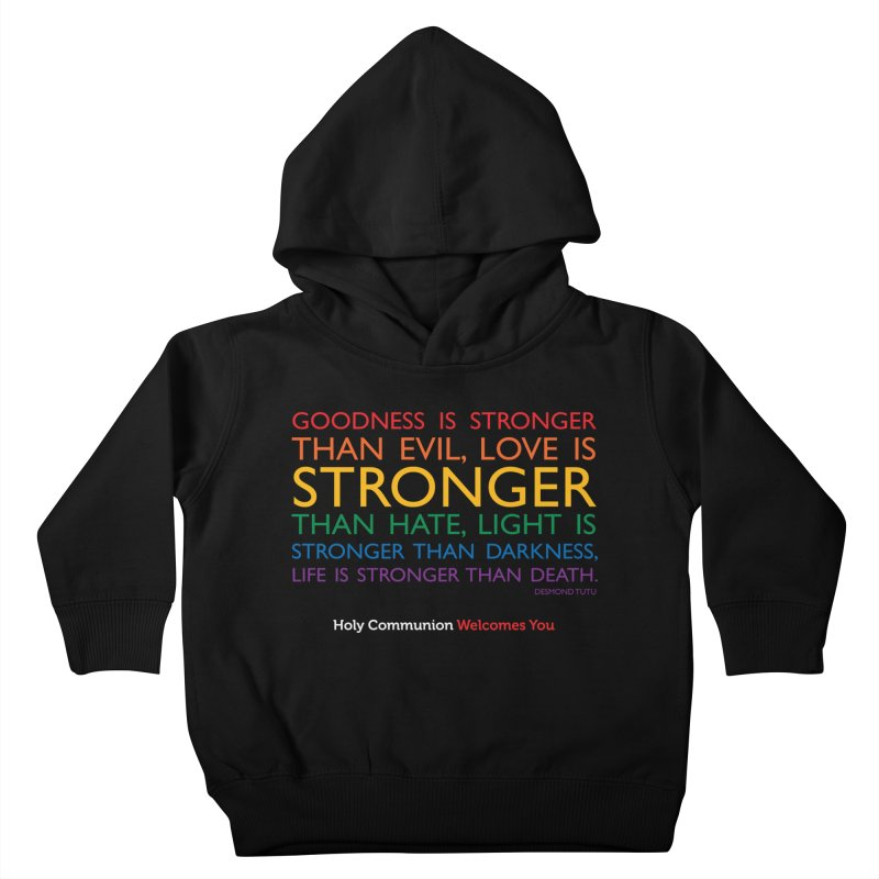 Tutu Quote for Dark Color Backgrounds Kids Toddler Pullover Hoody by Holy Communion's Artist Shop