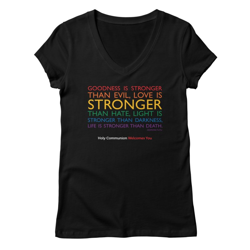 Tutu Quote for Dark Color Backgrounds Women's V-Neck by Holy Communion's Artist Shop