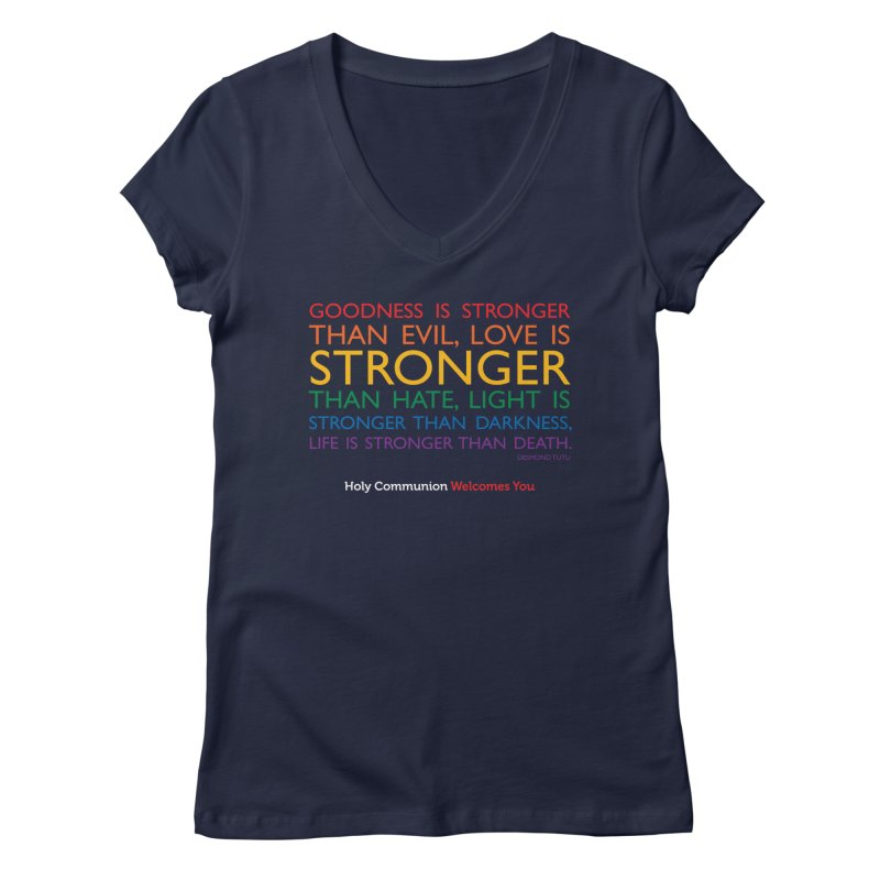 Tutu Quote for Dark Color Backgrounds Women's Regular V-Neck by Holy Communion's Artist Shop