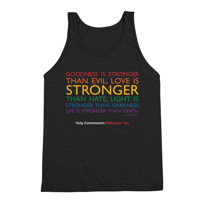 Tutu Quote for Dark Color Backgrounds Men's Triblend Tank by Holy Communion's Artist Shop