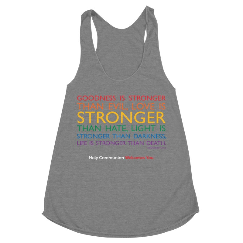 Tutu Quote for Dark Color Backgrounds Women's Racerback Triblend Tank by Holy Communion's Artist Shop