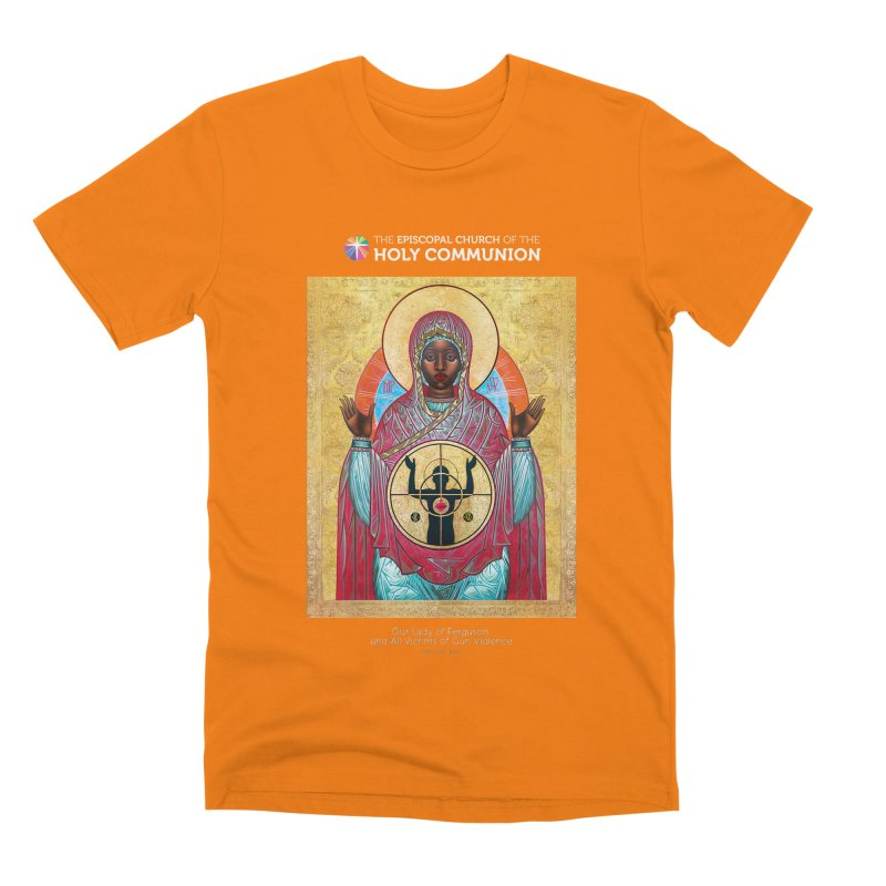 Our Lady Gun Violence Shirt Men's T-Shirt by Holy Communion's Artist Shop