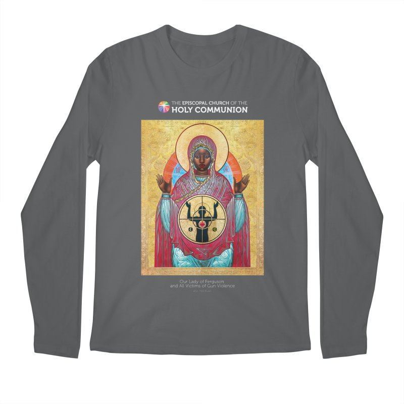 Our Lady Gun Violence Shirt Men's Regular Longsleeve T-Shirt by Holy Communion's Artist Shop