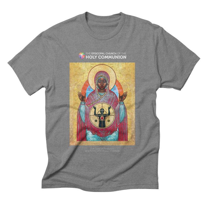 Our Lady Gun Violence Shirt Men's Triblend T-Shirt by Holy Communion's Artist Shop