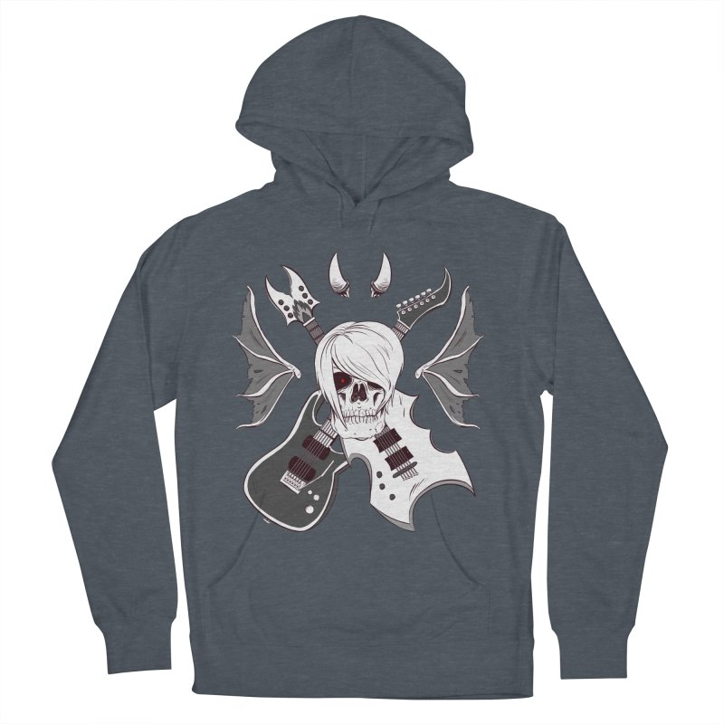 Skull & Guitars (B&W) by Holyengine Men's Pullover Hoody by Holy Shop