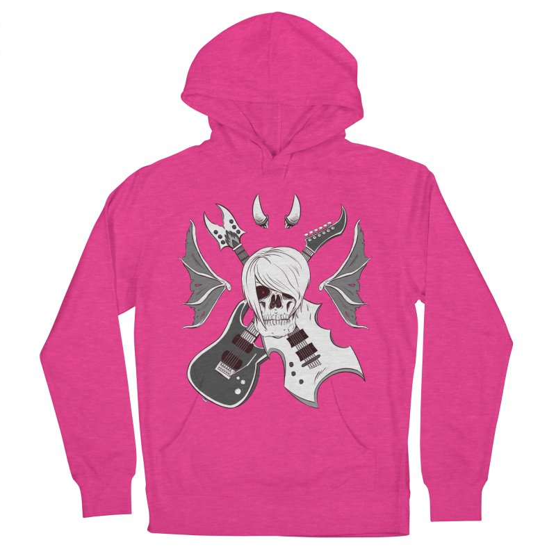 Skull & Guitars (B&W) by Holyengine Men's French Terry Pullover Hoody by Holy Shop
