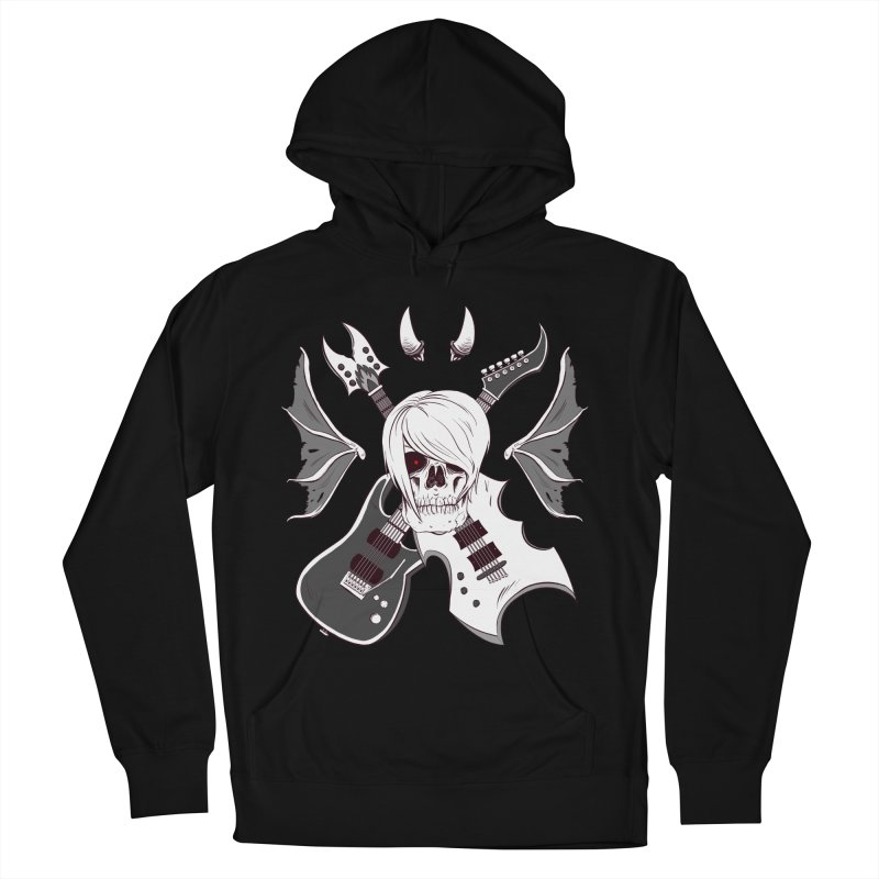Skull & Guitars (B&W) by Holyengine Men's Pullover Hoody by Holyengine's Shop