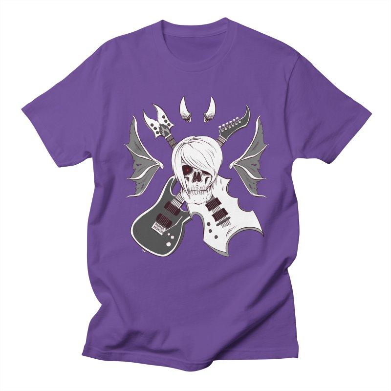 Skull & Guitars (B&W) by Holyengine Men's T-Shirt by Holy Shop