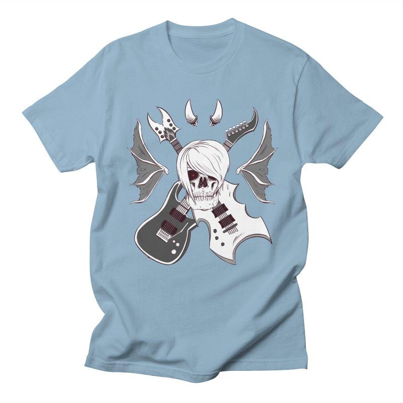 Skull & Guitars (B&W) by Holyengine Men's T-shirt by Holyengine's Shop