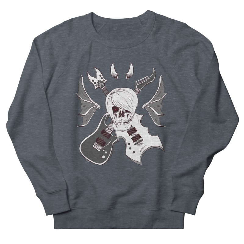 Skull & Guitars (B&W) by Holyengine Men's Sweatshirt by Holyengine's Shop