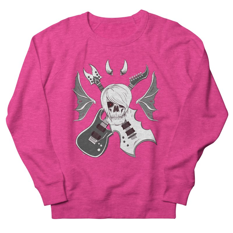 Skull & Guitars (B&W) by Holyengine Men's French Terry Sweatshirt by Holy Shop