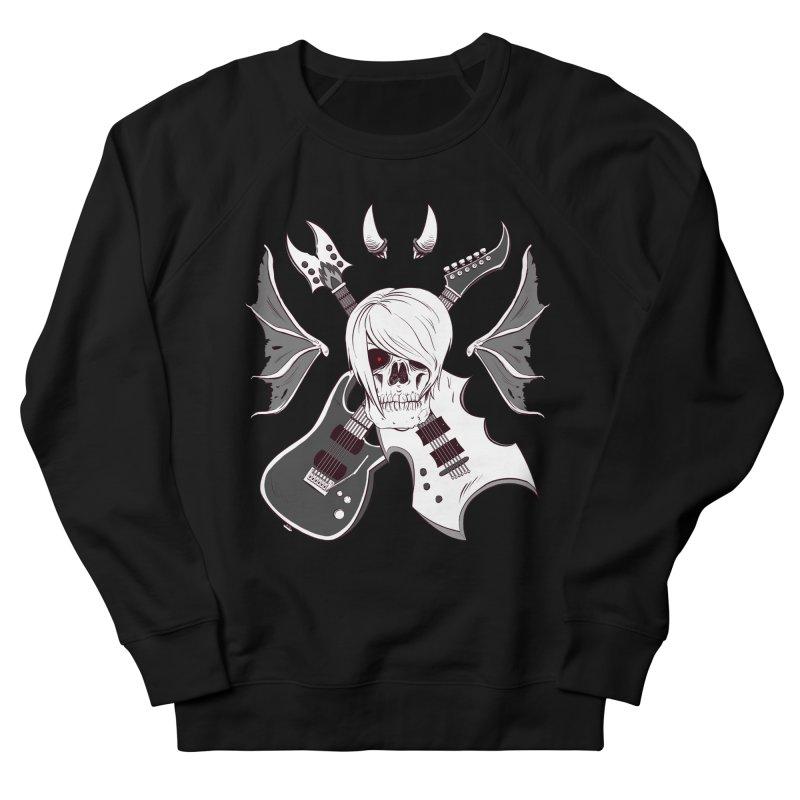 Skull & Guitars (B&W) by Holyengine Men's Sweatshirt by Holyengine's Shop