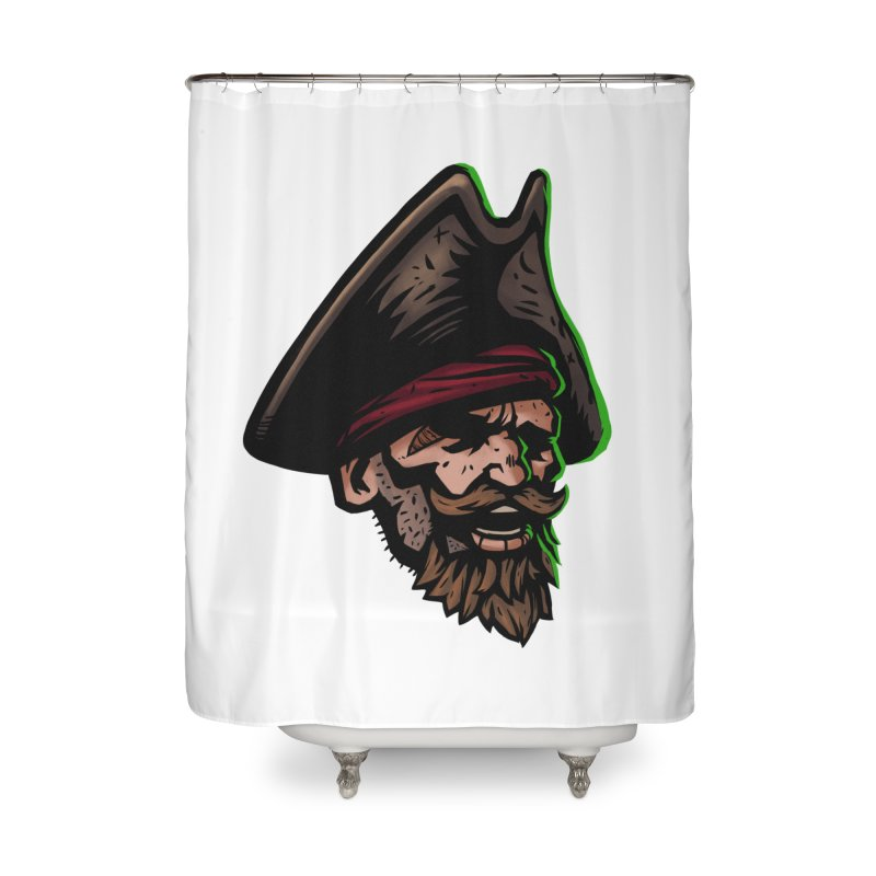 Captain Holy Home Shower Curtain by Holy Shop