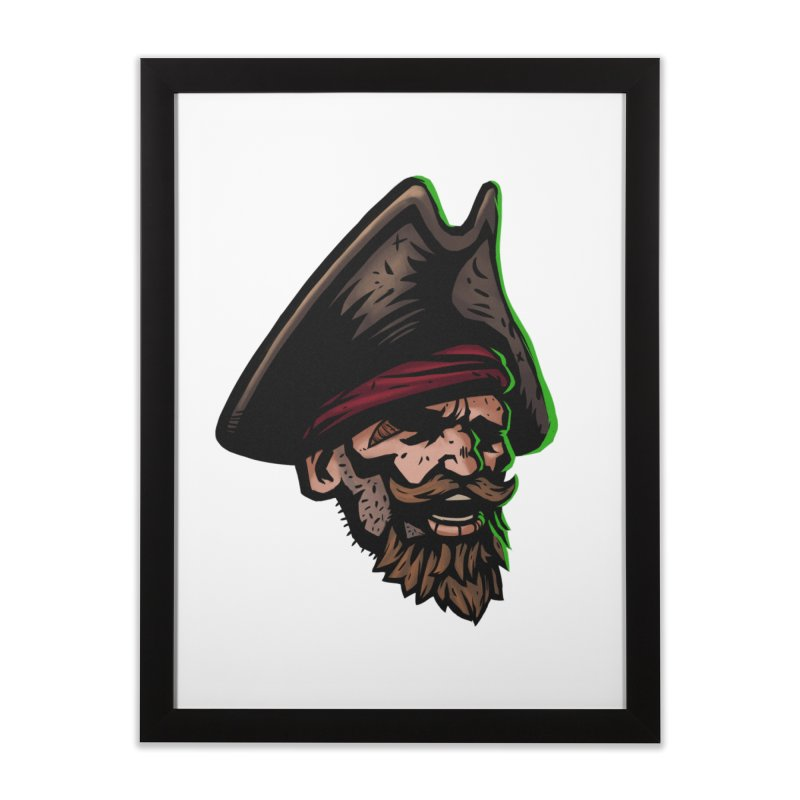 Captain Holy Home Framed Fine Art Print by Holy Shop
